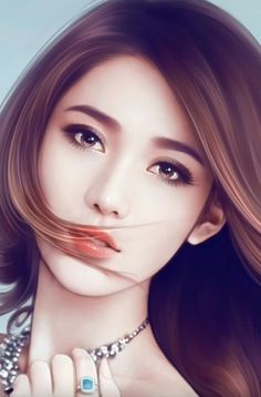 รูปภาพ art, illustration girl, and art girl Digital Art Anime, Digital Art Girl, Digital Portrait, Portrait Art, Chica Fantasy, Fantasy Girl, Beautiful Fantasy Art, Beautiful Anime Girl, Lovely Girl Image
