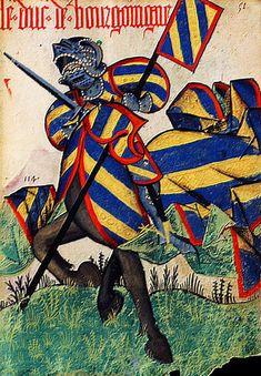Armorial équestre de la Toison d'Or Le duc de Bourgogne