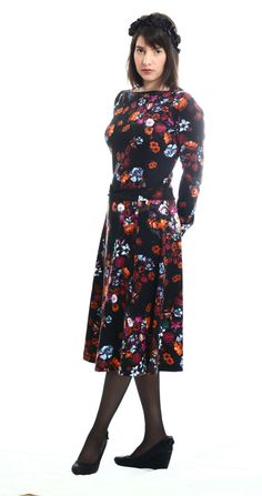 f6a2212dc718 lovely silhouette on this printed jersey handmade dress by on. TAMAR LANDAU