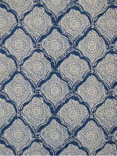 """Kashmira Sanganer Indigo - Echo Design Fabric, 100% combed cotton fabric, Foulard block print, multi purpose fabric, 15,000 double rubs, Made in America. Repeat; V 3.5"""" x H 5.5"""". 54.5"""" wide. CALENDERED UNBRANDED SOIL & STAIN RELEASE FINISH"""