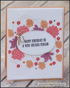 Handmade Card using the stamp set Oh So Succulent by Stampin' Up!