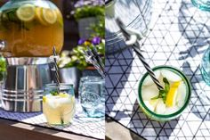 Zomerse drankjes voor een tropische week - Francesca Kookt Alcoholic Drinks, Cocktails, San Pellegrino, Tequila, Wine, Table Decorations, Food, Craft Cocktails, Essen