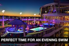 Night swims are the best swims #cruise #travel