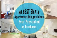 Do you live in a small apartment? Many of us whether by choice or necessity live in smaller apartments. We often get the feeling that some of the projects