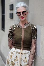 ADVANCED STYLE: Linda Rodin in Vintage Pauline Trigere