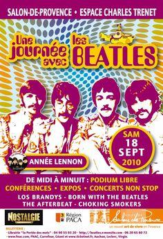 Affiche officielle Une Journée avec les Beatles 2010 - Salon de Provence