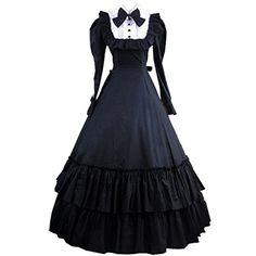 Partiss Damen Langaermel Kleid Gotische Viktorianische Klassische Lolita Ballkleid Ruffles Abendkleid fuer Maskeraden Partiss http://www.amazon.de/dp/B01680IFD4/ref=cm_sw_r_pi_dp_Fk5ewb0BMYPSD