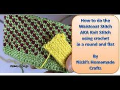 "Easy Tutorial: How to do the Waistcoat stitch AKA the ""Knit"" stitch (original video) - YouTube"