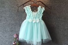 Baby Girl Dress Flowers & Lace | 2-6T