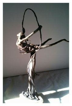 Figure made of powertex with a bronze finish made at our crafting holiday workshop in France.