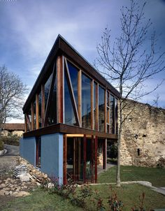 Extension of existing Caserio : mendiola : vizkaya : 2002 Cabin, House Styles, Home Decor, Cabins, Cottage, Interior Design, Home Interior Design, Wooden Houses, Home Decoration