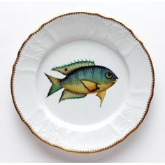 Anna Weatherley Antique Fish 9.5 In Dinner Plate No. 3