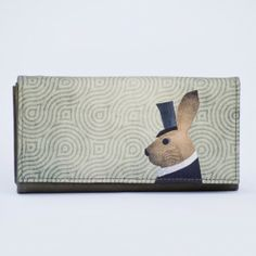 MR. Rabbit - leather wallet Cilinderes nyúl - bőr tárca