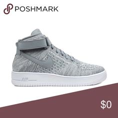 """Nike AF1 Ultra Flyknit Mid """"Wolf Grey"""" Brand new and never worn. Size 10 comes with the original box and size 11 comes with the original box with the top removed. Nike Shoes Athletic Shoes"""