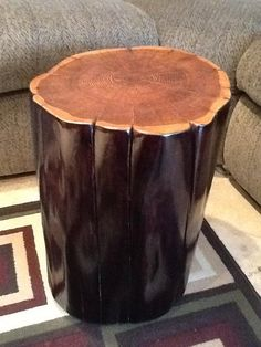 Custom Two-Toned Tree Stump Table Tree Stump Table, Cabin Ideas, Tables, Etsy Seller, Diy Crafts, Craft Ideas, Design, Mesas, Make Your Own