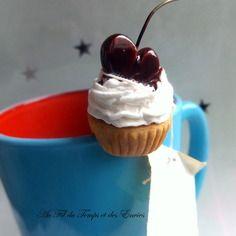 Porte thé en forme de cupcake à la cerise