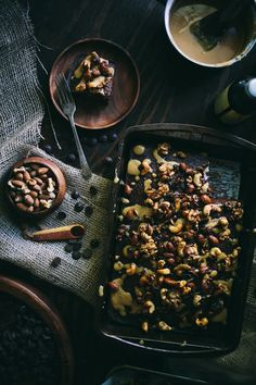 Chocolate Sheet Cake With Toasted Nuts & Salted Dulce De Leche via Adventures In Cooking