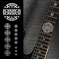 Inlay Stickers are Removable. You can install these on your electric or acoustic guitar with 24 3/4 in, 25 1/2 in guitar necks with 22 or 24 frets. These sticker can cover original dot marks easily.
