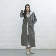 French terry coat, Olive Color. on Etsy, $185.00