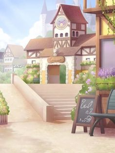 Anime Backgrounds Wallpapers, Episode Backgrounds, Anime Scenery Wallpaper, Cute Wallpapers, Cute Headers, Twitter Header Aesthetic, Camera Art, Background Drawing, Fantasy City