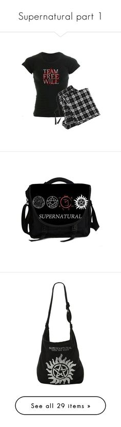 """Supernatural part 1"" by blackrosenite ❤ liked on Polyvore featuring bags, laptop bags, laptop messenger bags, courier bags, laptop courier bag, messenger bags, supernatural, jewelry, necklaces and chain pendants"