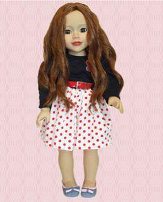 Daniela - 18 inch doll from Sisterhood In Town dolls.  A Canadian company.