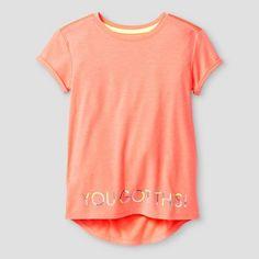 Girls' You Got This Active T-Shirt Cat & Jack™ - Coral XL : Target