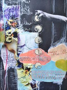 into place - art journal spread - by bun // artist: roxanne coble