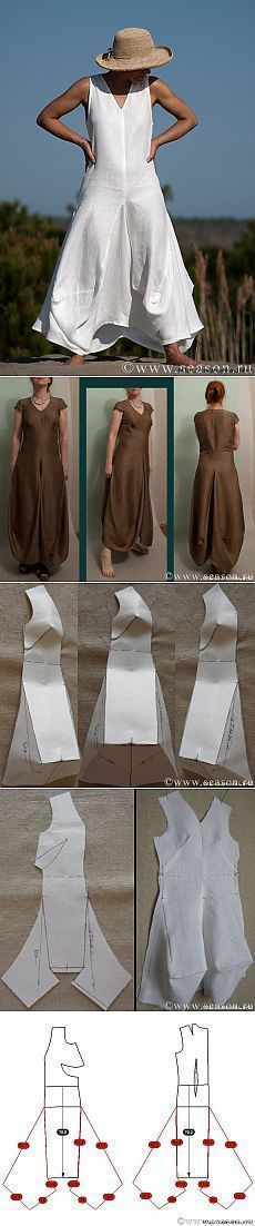Платье в стиле бохо с подробным мастер-классом от www.season.ru: