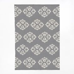 Andalusia Rug, 9'x12', Feather Gray/Ivory