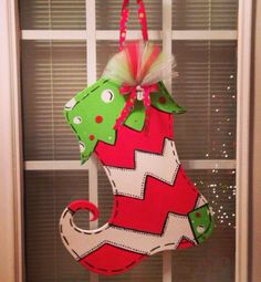 Hey, I found this really awesome Etsy listing at https://www.etsy.com/listing/172603835/christmas-stocking-door-hanger