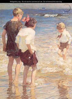 Children at Shore No. 3 - Edward Henry Potthast