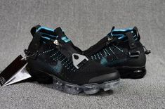 de6e24a041fd3 Nike Air Vapormax Flyknit Zipper Blue Black Men s Running Shoes  SE008937