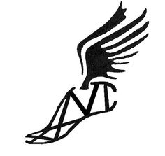 Running shoe track shoes with wings clipart | coloring and ...