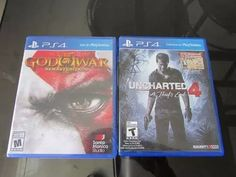 uncharted 4 ps4 + god of war nuevo sellado