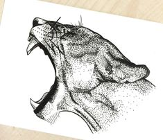Dotted Drawings, Pencil Art Drawings, Cool Art Drawings, Art Drawings Sketches, Animal Sketches, Animal Drawings, Dessin Game Of Thrones, Stippling Drawing, Mens Lion Tattoo