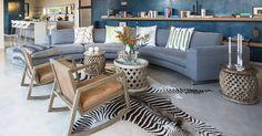 Ethno style living room at Aloe Ridge; Eden Rock Forest Estate