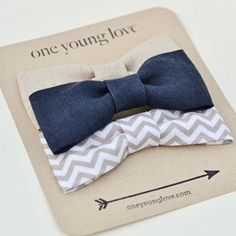 Baby Boy Snap On Bow Ties