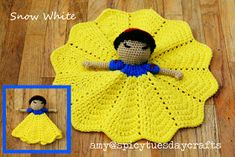 Crochet Princess, Crochet Lovey, Manta Crochet, Crochet Gifts, Crochet Blanket Patterns, Baby Blanket Crochet, Crochet Dolls, Princess Leia, Free Crochet
