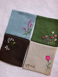 Handkerchief Embroidery, Embroidery Flowers Pattern, Embroidery Bags, Hand Embroidery Designs, Beaded Embroidery, Cross Stitch Embroidery, Wool Applique, Applique Quilts, Quilting