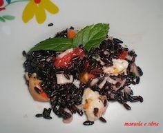 Il riso venere si presta particolarmente a condimenti di pesce, variando quindi dalla classica insalata di riso e verdure abbiamo scelto ri...