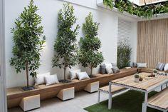 The Block 'Glasshouse' Indoor Courtyard, Courtyard Landscaping, Small Courtyard Gardens, Courtyard Design, Small Courtyards, Small Backyard Landscaping, Patio Design, Backyard Patio, Modern Garden Design