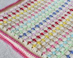 Baby Blanket Crochet Pattern Baby Afghan Pattern by BabiesByHand