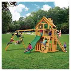 2a5cb38787df0 Gorilla Playsets Chateau Clubhouse Treehouse Swing Set