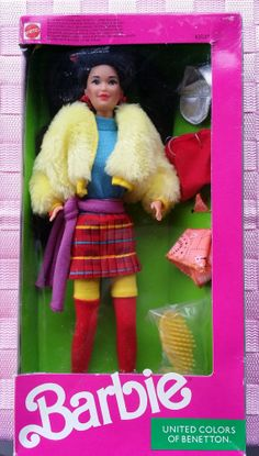 Items similar to United Colors of Benetton Kira Barbie Doll 1990 Mattel New in Box Vintage on Etsy Barbie 90s, New Barbie Dolls, Barbie And Ken, Barbie Benetton, Barbie Family, Vintage Barbie Clothes, Barbie Patterns, Barbie Collection, Barbie Friends