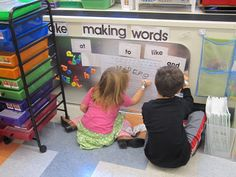 I love this making words center!