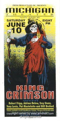 Resultado de imagem para king crimson cartaz