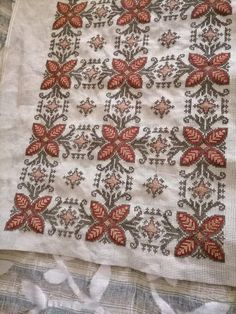 Palestinian Embroidery, Crochet Cushions, Bohemian Rug, Decoupage, Cross Stitch, Fabrics, Diy Crafts, Quilts, Blanket