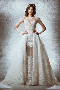 You need check out these 11 fabulous wedding dresses from Zuhair Murads Fall 2015 Bridal Collection.