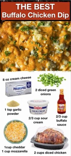 Buffalo Chicken Dip Quick and easy buffalo chicken dip! The BEST low carb and keto party appetizer idea.Quick and easy buffalo chicken dip! The BEST low carb and keto party appetizer idea. Buffalo Chicken Dips, Pollo Buffalo, Buffalo Chicken Dip Recipe With Sour Cream, Cream Cheese Chicken Dip, Buffalo Chicken Casserole, Quick Appetizers, Appetizers For Party, Appetizer Recipes, Vegetarian